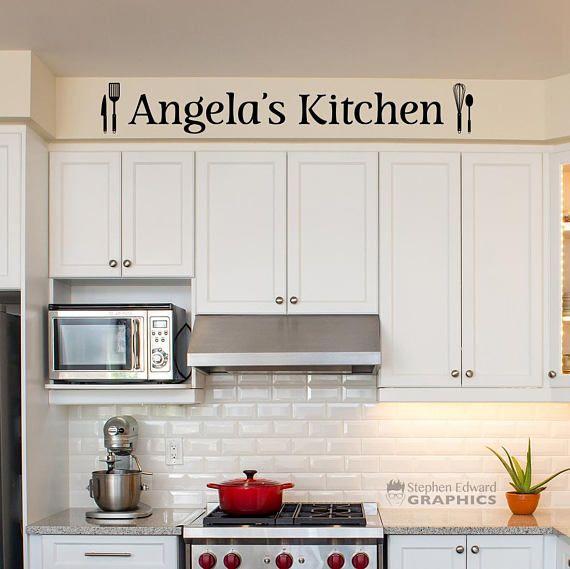 Personalized Kitchen Decal Kitchen Utensil Sticker Custom Etsy In 2020 Kitchen Decals Kitchen Decor Wall Art Kitchen Wall Decals