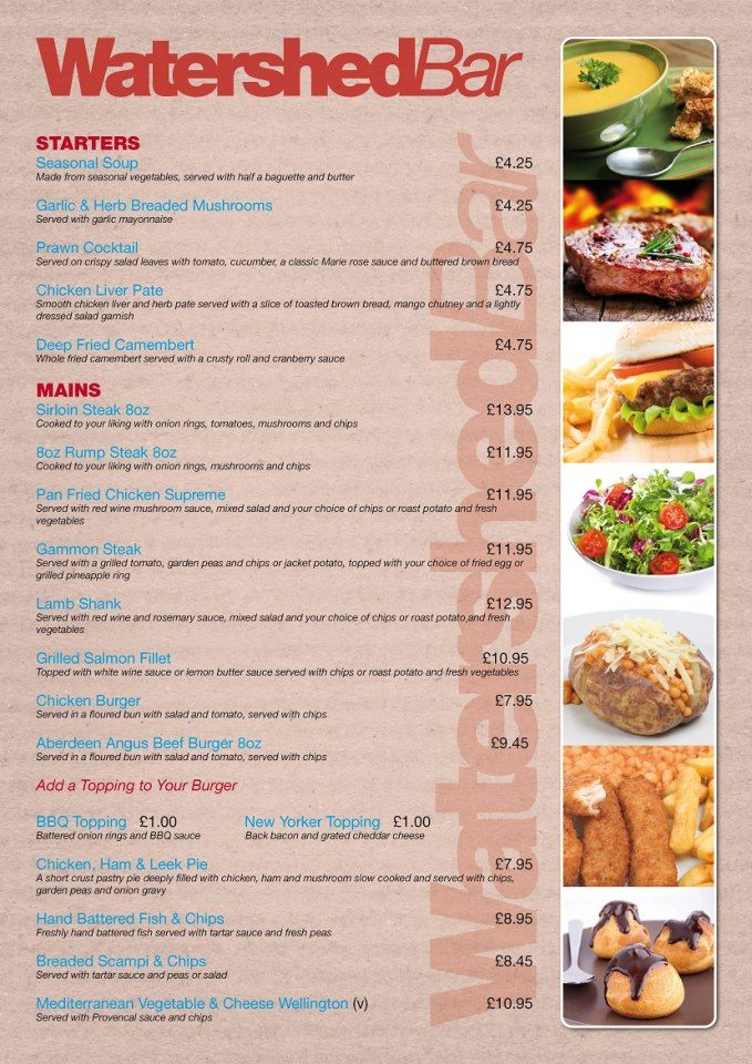 Superb single-page design for a restaurant menu. We did the logo on this one too!