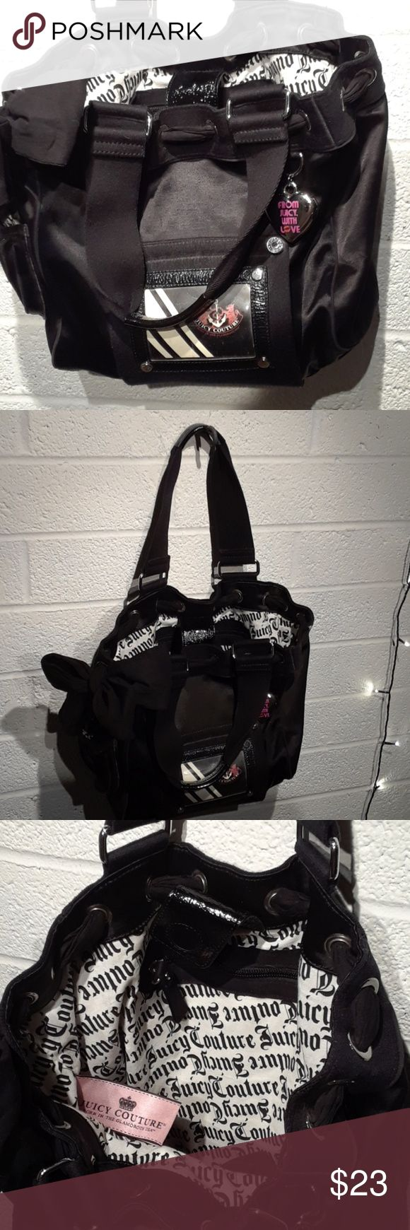 Women's Juicy Couture Bag. Combination leather cotton collage.  In very good clean condition. Juicy Couture Bags Totes