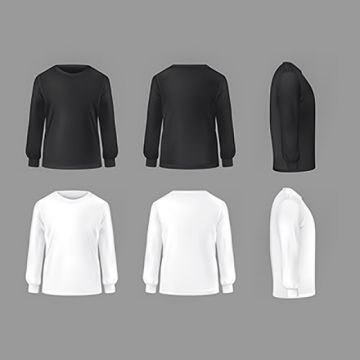Vector Set Template Of Male T Shirts With Long Sleeve Shirt T White Png And Vector With Transparent Background For Free Download Male T Shirt T Shirt Design Template Vector Clothes