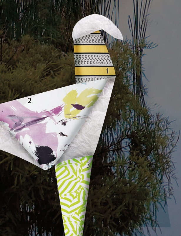 <3: Green Motif, Pastel Colors, Origami, Brendel Model