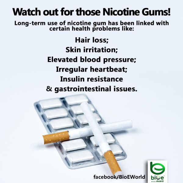 BIO E® World: Watch out for those Nicotine Gums!