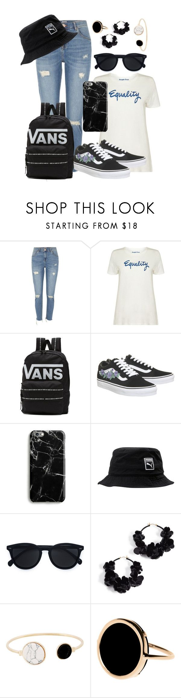 """""""It's all we ask for."""" by lol-meme-dank-qi ❤ liked on Polyvore featuring River Island, People Tree, Vans, Samsung, Puma, Le Specs, Oscar de la Renta, Ginette NY, womensHistoryMonth and pressforprogress"""