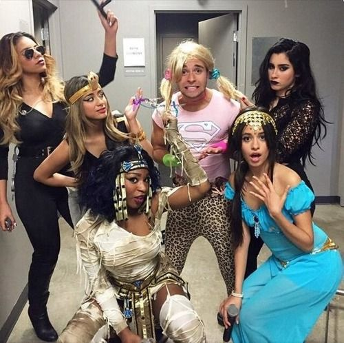 Fifth Harmony - Jake Miller>>>Jake dressed like a girl, and everyone looks excited, besides Ally and Lauren, they look so done. Dinah looks like a boss, Camila looks traumatised, and idek what Normani looks like...but it's really cute.