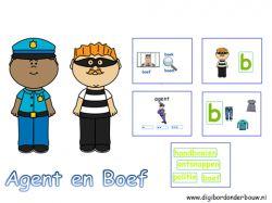 Digibordles Agent en Boef taalactiviteiten.