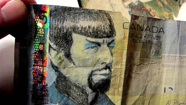 De Canadese centrale bank heeft Star Trek-fans gisteren opgeroepen te stoppen met het bekladden van briefjes van vijf dollar. Op de briefjes staat oud-premier…
