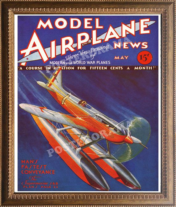 Model Airplane Magazine POSTER 16 x 20 large plane by POSTERORAMA, $17.00
