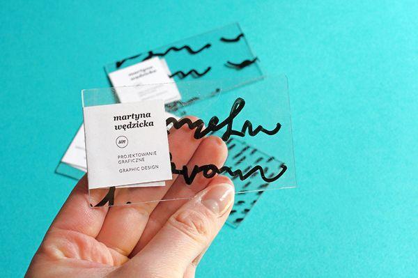 A Designer's Gorgeous Transparent Business Cards Feature Unique Hand-Drawings - DesignTAXI.com