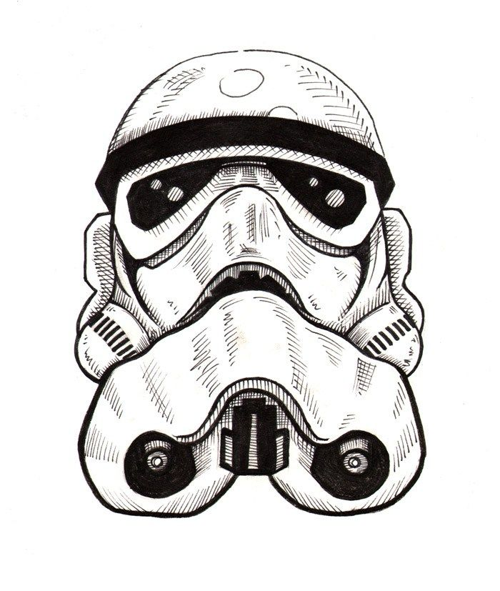 Trooper - Ink Drawing by Jesse Giffin