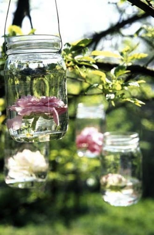 Fresh Flower Lantern Decorations