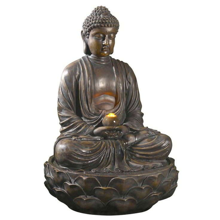 Buddha Polyresin Fountain with LED Light
