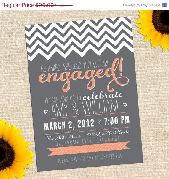 19 best Engagement party invitations images on Pinterest - engagement party templates