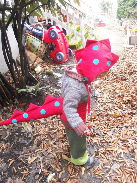 Red Dragon Dino Dress up tail