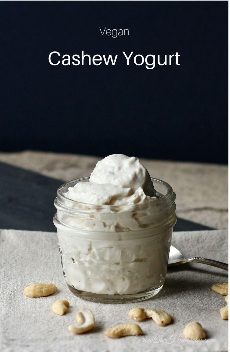 Vegan Cashew Yogurt   Dairy-Free   Nondairy   Gluten-Free