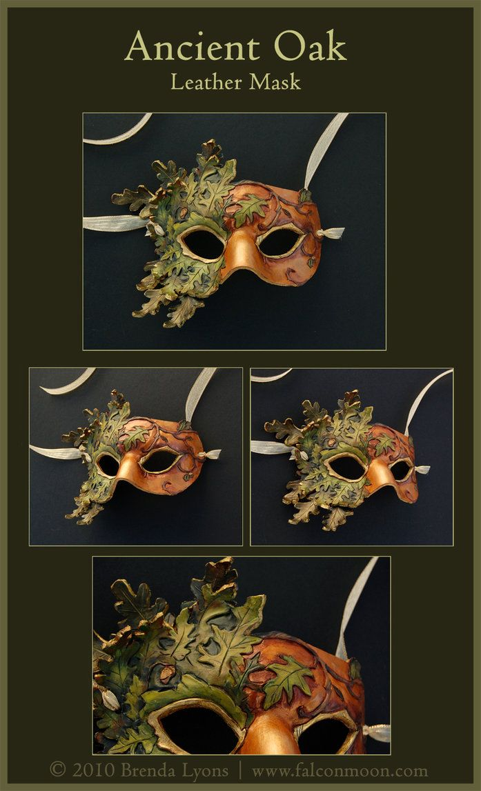 Ancient Oak - Leather Mask by *windfalcon on deviantART
