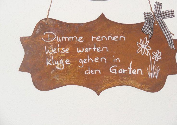 Rost Schild / Garten
