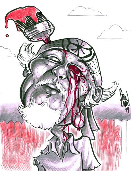 Mr. Miyagi Zombified original art has been snatched up! But you can still add on a limited-edition print of it https://www.kickstarter.com/projects/stanyan/vincent-price-comic-book-caricature-project