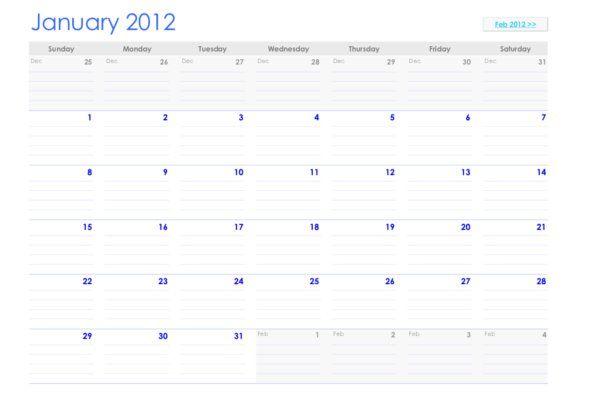 Calendario 2012 pdf / Calendar 2012 PDF