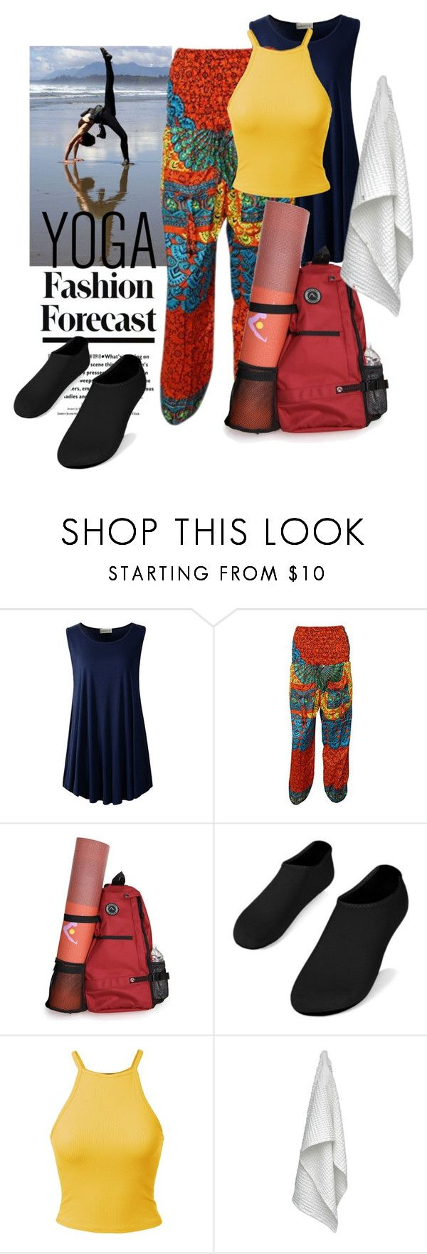 """""""sunnyside up👆"""" by daincyng ❤ liked on Polyvore featuring The Organic Company and yoga"""