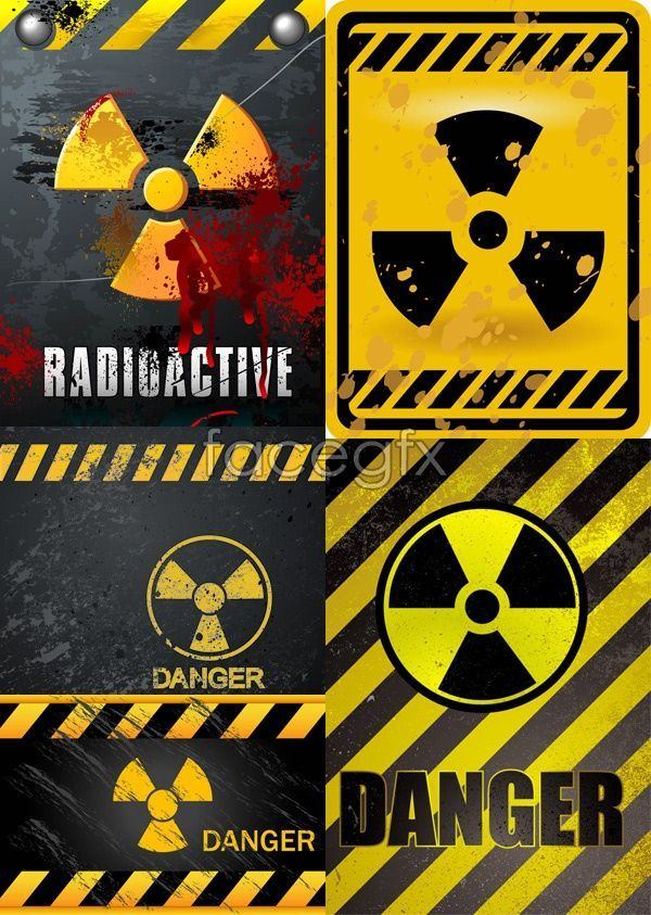 Nuclear Danger Warning Warning Lines Signs Danger Vector Cool Stickers Dangerous Larp Props