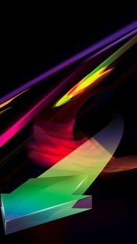 Barwna abstrakcyjna strzałka