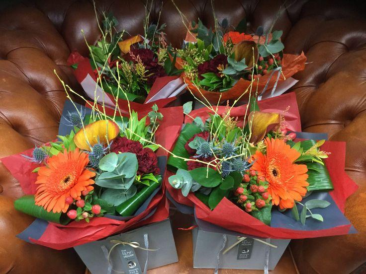 Gorgeous autumnal arrangements #flowers #perth #McEwens #rosehouse