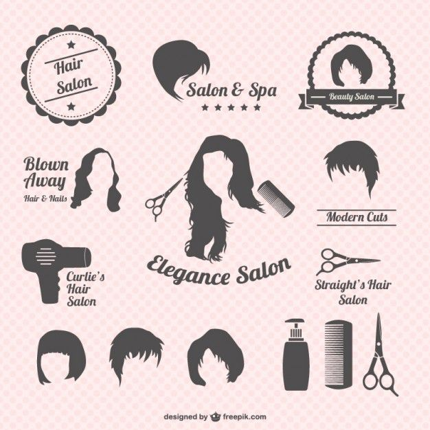 Hair salon graphics Free Vector