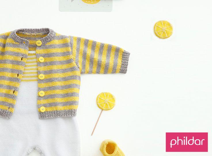 Op zoek naar een leuk baby vestje breipatroon? Dit model van Phildar is echt…
