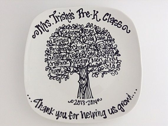 The Original Teachers Appreciation End of School Year Graduation Class Gift Family Tree Class Tree Personalized Custom Name Plate