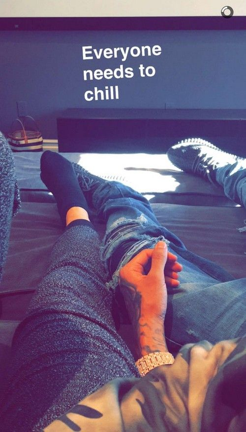 Kylie Jenner and Tyga may have already kissed and made up in a telling SnapChat photo after reports that the reality star and her rapper boyfriend split