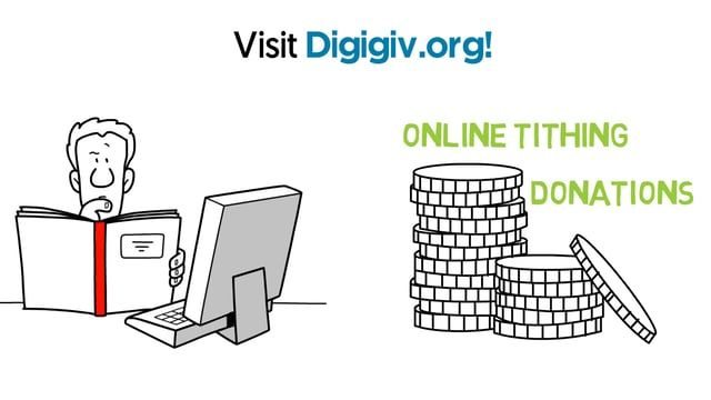 http://digigiv.org Looking for the perfect solution to receive money online? Our custom built platform provides your ministry or non profit the tools that make online giving easy. There are 5 simple ways to give with Digigiv simply give online via our website, use your mobile device, SMS text messaging, on site kiosk, and tithing envelope. To learn how Digigiv can help your ministry or non profit accept online tithing or donations. Visit digigiv.org!