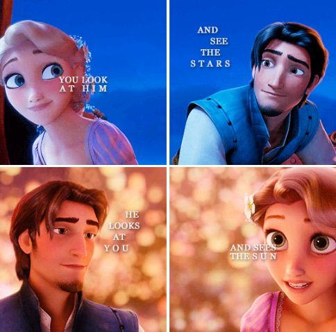 and you both think the other is just looking at the ground... (Have you checked out my Tangled and Frozen boards lately?)
