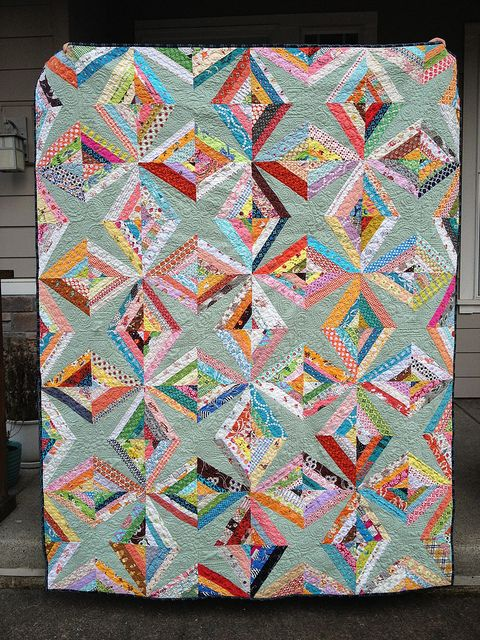 String Of Lights Quilt Pattern : String Quilt Revival by Rachel @ 2nd Avenue Studio, via Flickr Fabric Yumminess Pinterest ...