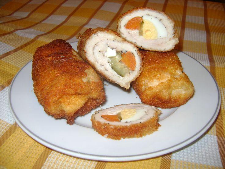 Töltött csirkemell, mutatós étel villámgyorsan! Ínyenc falatok! :)