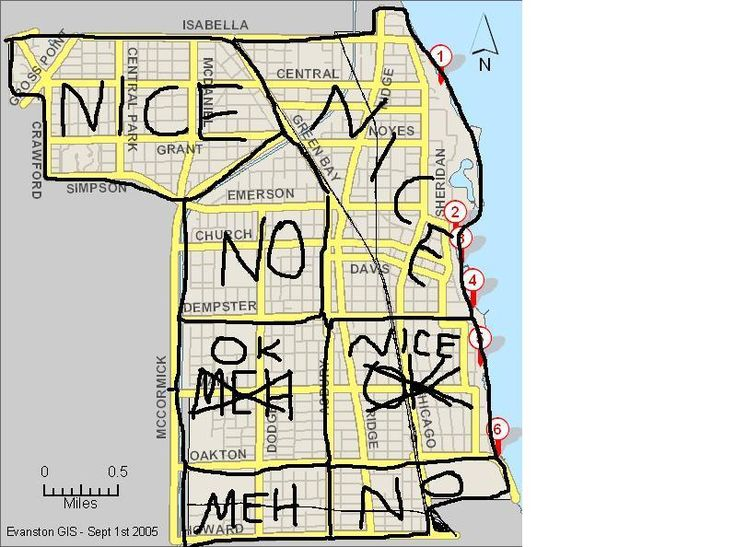 Hilarious yet helpful map of good bad neighborhoods in Good house map