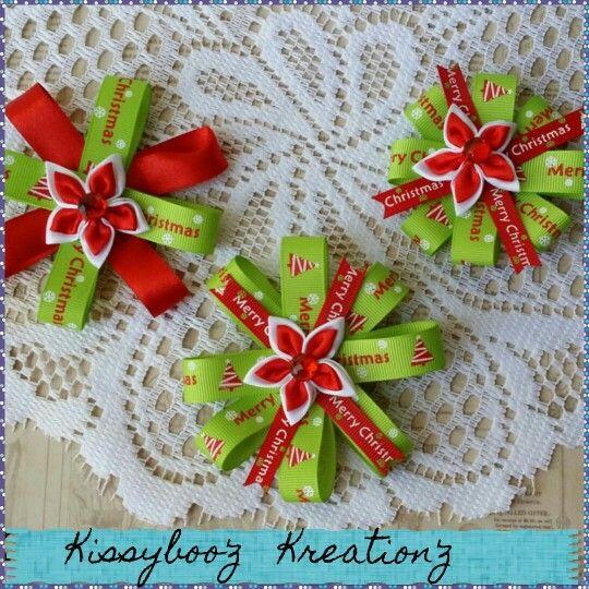 Christmas hairclips