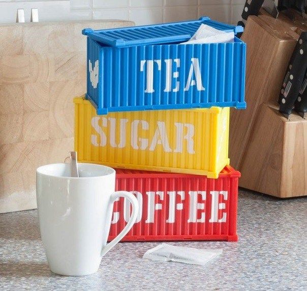 Cargo Containers Coffee Tea Sugar Canisters Cargo Container Coffee Storage Container Coffee Shop