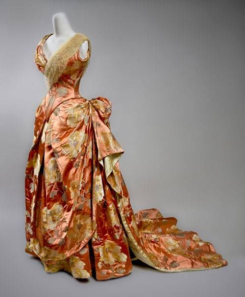Evening dress, by the House of Worth, ca. 1890. Preservation Society of Newport County Source