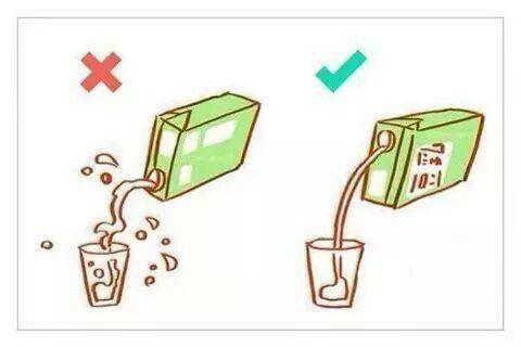 Prawidłowy sposob nalewania napojów z kartonu