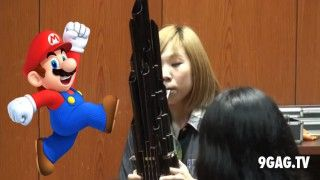 "Super Mario Theme Performed On Ancient Chinese Instrument ""Sheng"" - 9GAG.tv"