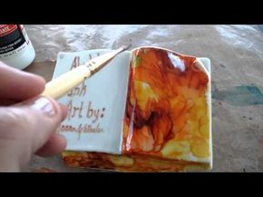 Sealing alcohol ink with Liquitex UV protecting vv - YouTube
