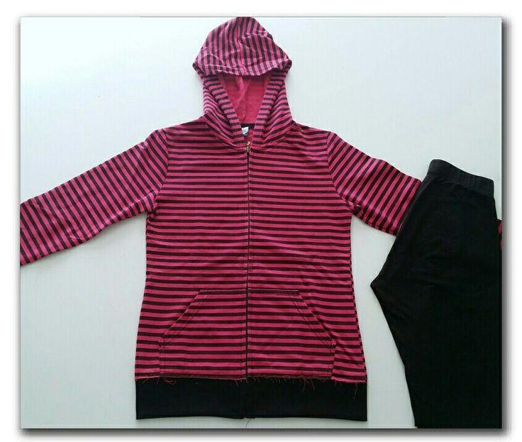 Pink hoodie with black stripes, black leggings  #ootd #fashion #whatiwore #fashionidea #winterfashion #casualwear #casual #gymwear #dailyoutfitinspiration