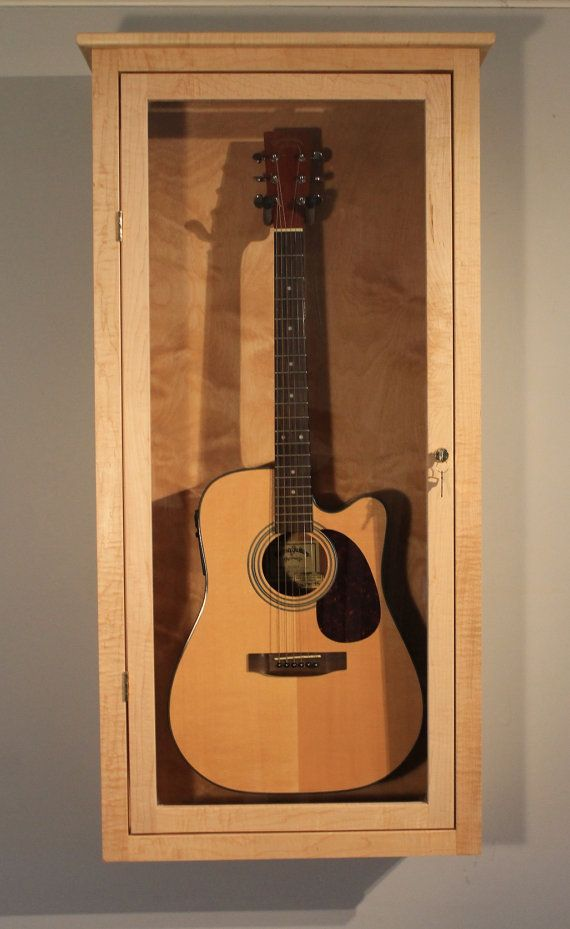 Guitar Display Case wall mount by DougsRustics on Etsy, $350.00