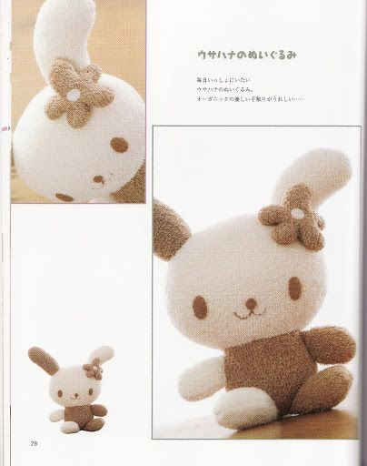 Stuffed animal bunny with free sewing pattern template for Stuffed animal templates free