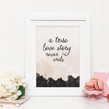 Romantic Love Story Print