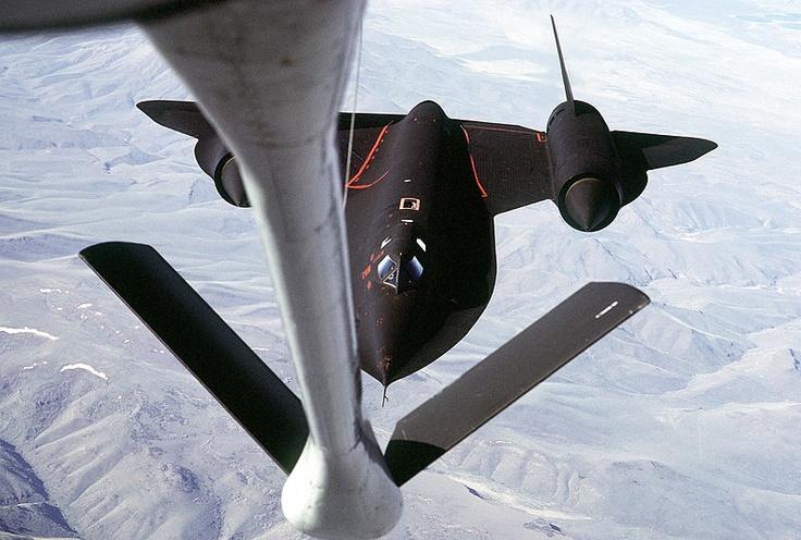 SR-71 seen from KC-135Q tanker 1989