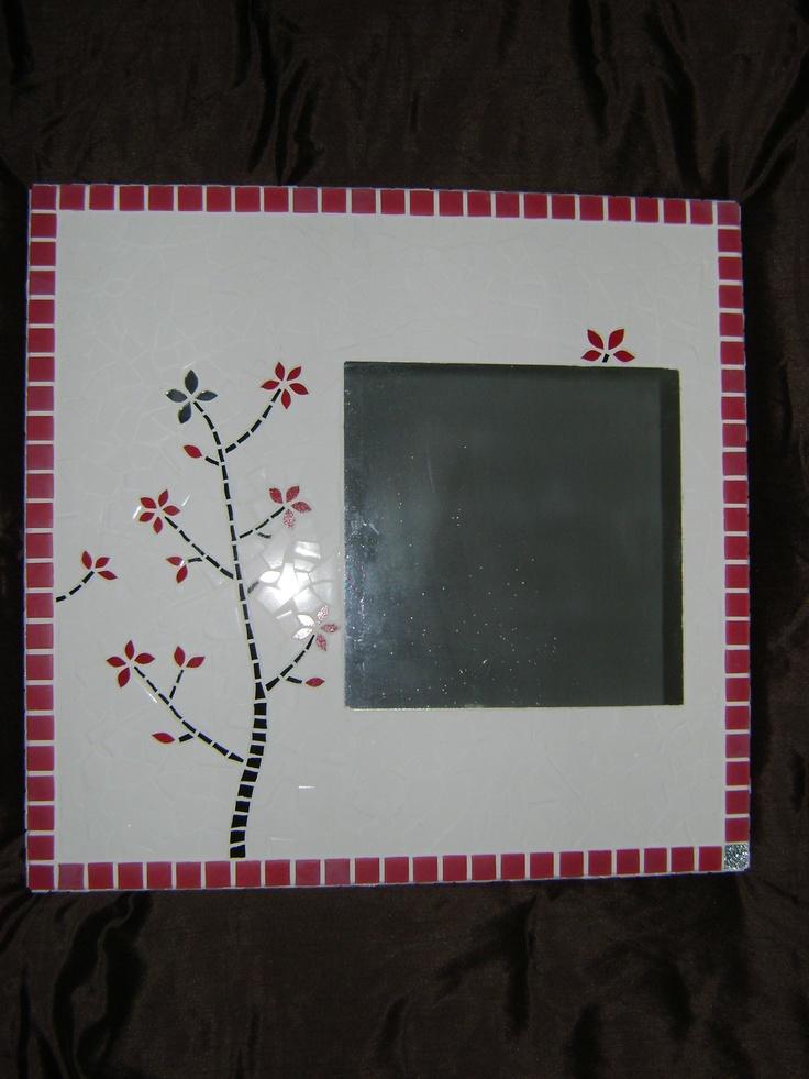 Mosaic - Cerisier en fleur rouge