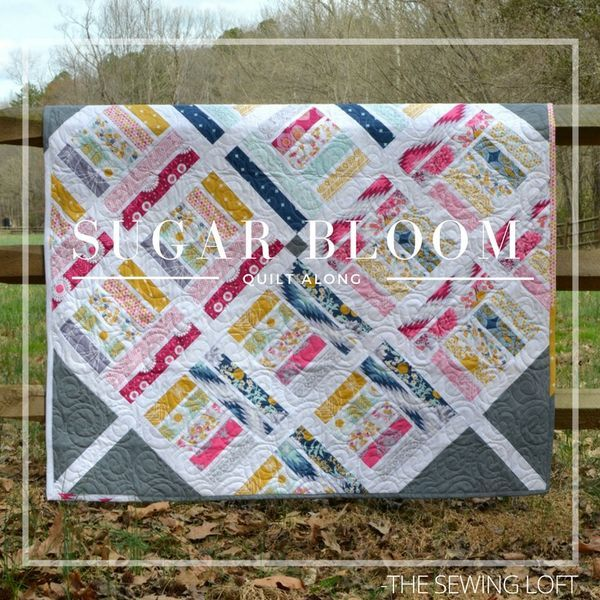 Grab your pre cuts and join the Sugar Bloom Quilt pattern quilt along. It is perfect for perfect for picnics in the park, catching fire flies in the summer and mid afternoon naps in the shade.