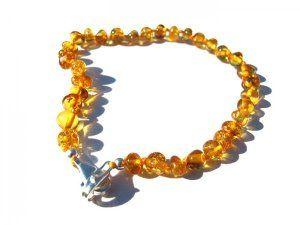 Baroque Amber Adjustable Bracelet amberpumpkin.com