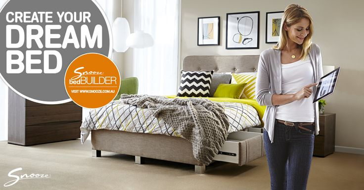 Like what you saw on The Living Room? Now it's your turn! You can customise-build you dream #bed using the #Snooze bedBUILDER™ online now at www.snooze.com.au/bedBUILDER